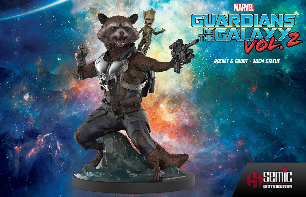 Statuette Zing by Semic - Les Gardiens de la Galaxie 2 - Rocket & Groot 30 cm