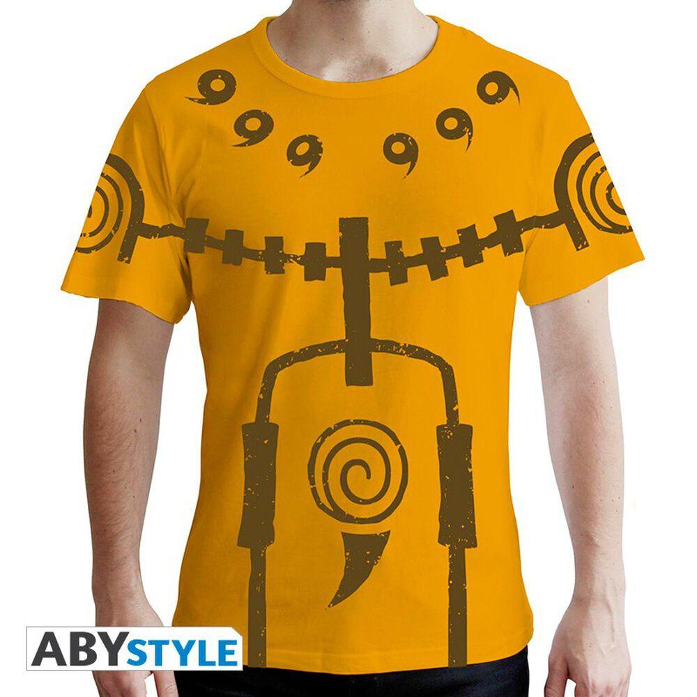 T-shirt - Naruto Shippuden - Chakra Mode Premium Jaune - Taille L