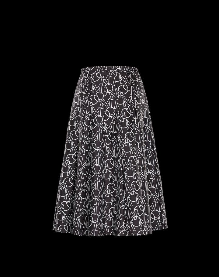 Moncler Monogram printed skirt Black