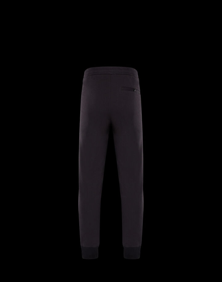 Moncler Pants with rubber logo Black