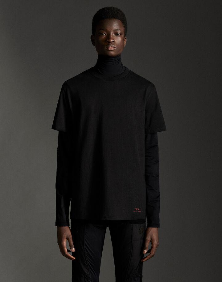 Moncler Set of three t-shirts Black/Melange Gray/White