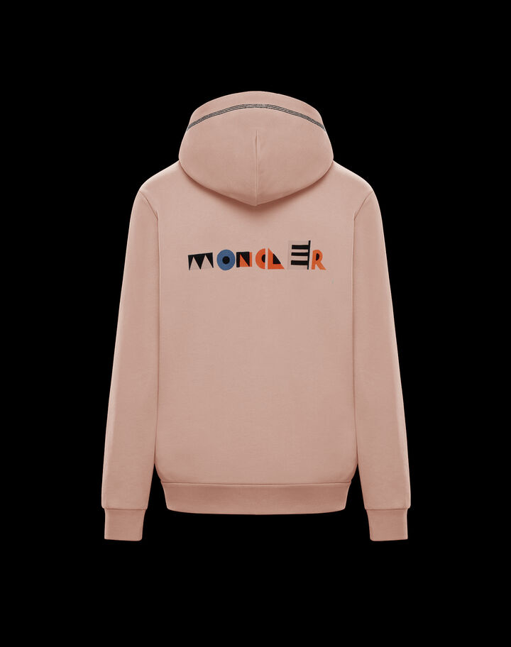 Moncler Sweater with logo on back Light Pink