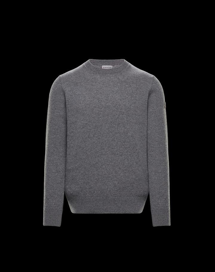 Moncler Tricolor crewneck sweater Dark Gray