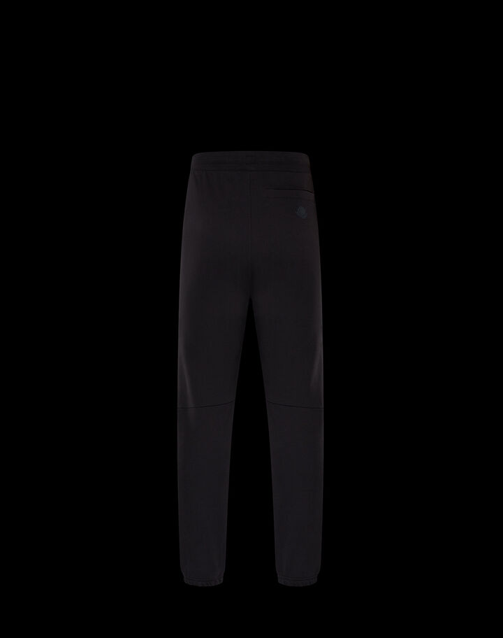Moncler French terry pants Black