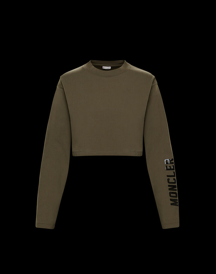 Moncler Cropped t-shirt Army Green