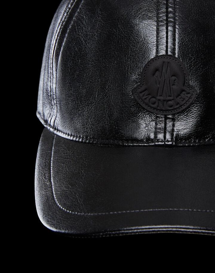 Moncler Patent leather hat Black