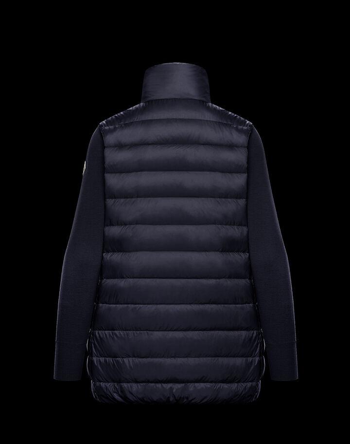 Moncler Long down sweater Night Blue