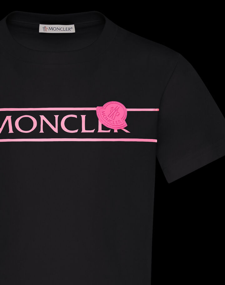 Moncler T-Shirt with neon graphic Black