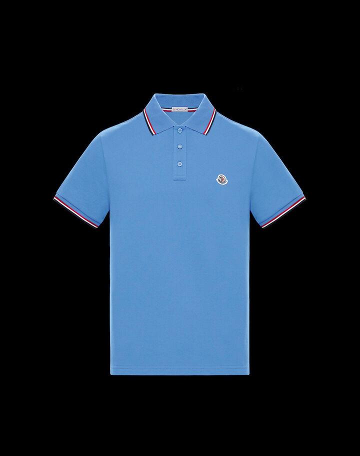 Moncler Short sleeve polo shirt Dutch Blue