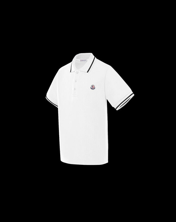 Moncler Polo shirt for boys Ivory White