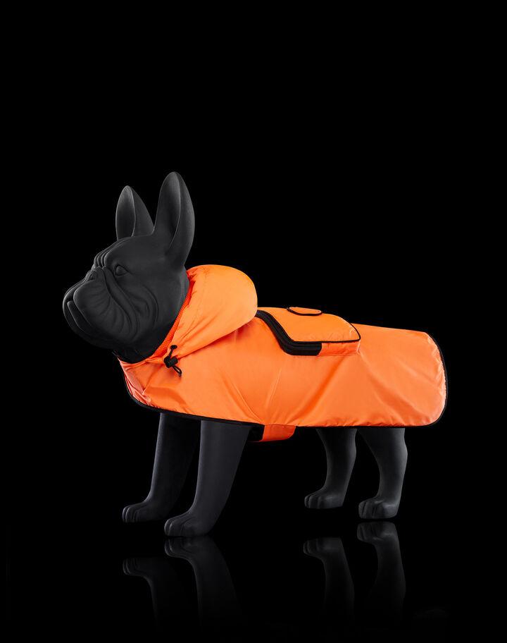 Moncler Mondog packable cape Bright Orange