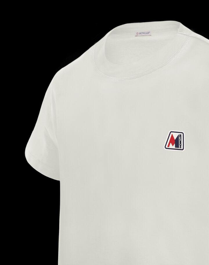 Moncler Patch t-shirt Silk White