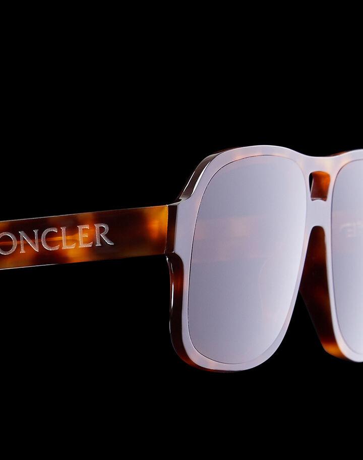 Moncler Aviator sunglasses Shiny Classic Havana