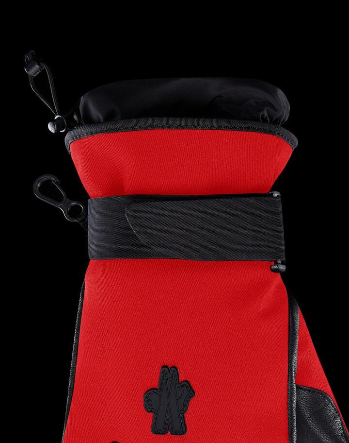 Moncler Ski gloves Fire Red