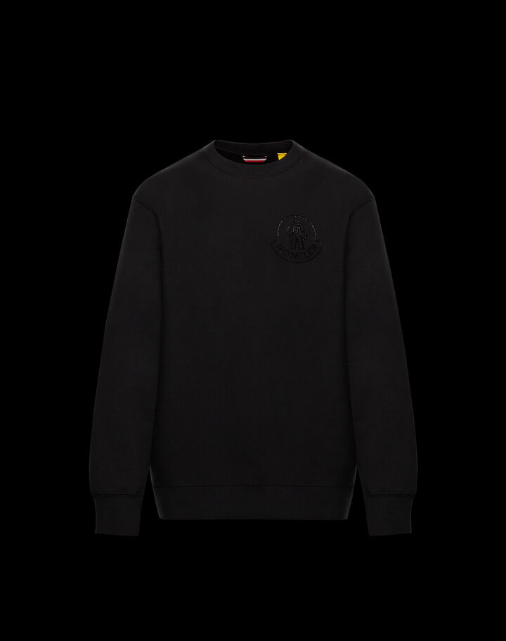 Moncler Sweater with Swarovski logo Black