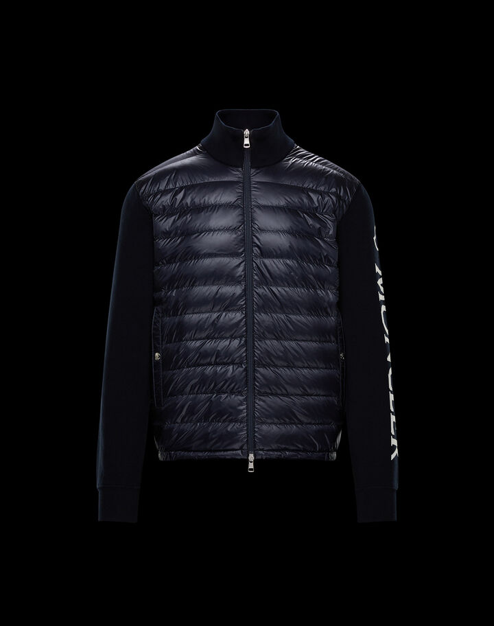 Moncler Cotton and nylon cardigan Night Blue