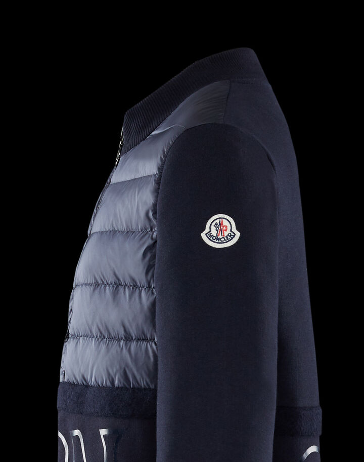 Moncler Padded sweatshirt letters Night Blue