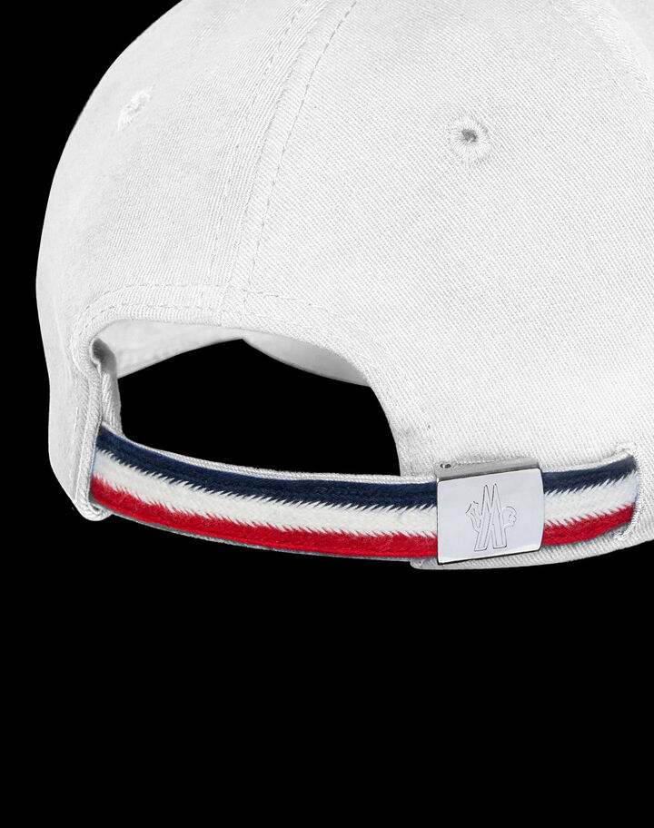 Moncler Logo baseball cap Optical White