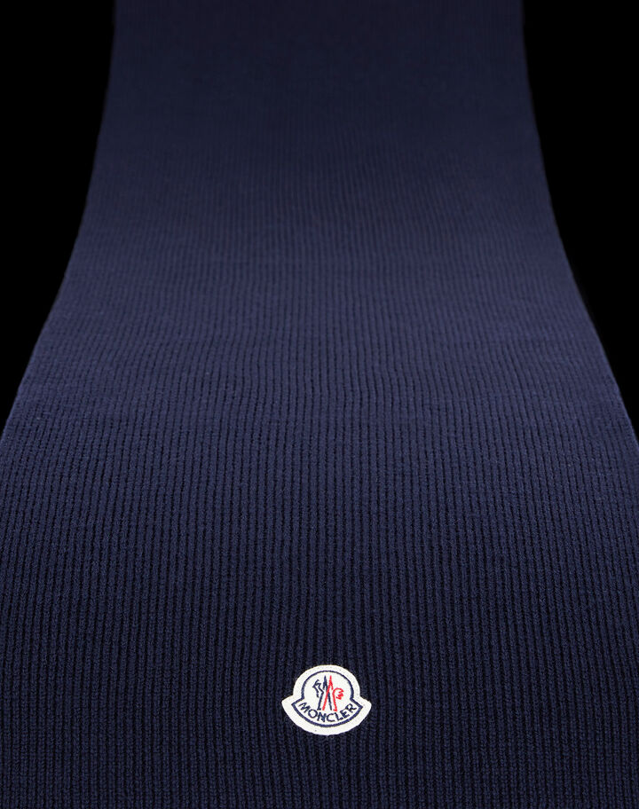 Moncler Rib-knit scarf Night Blue