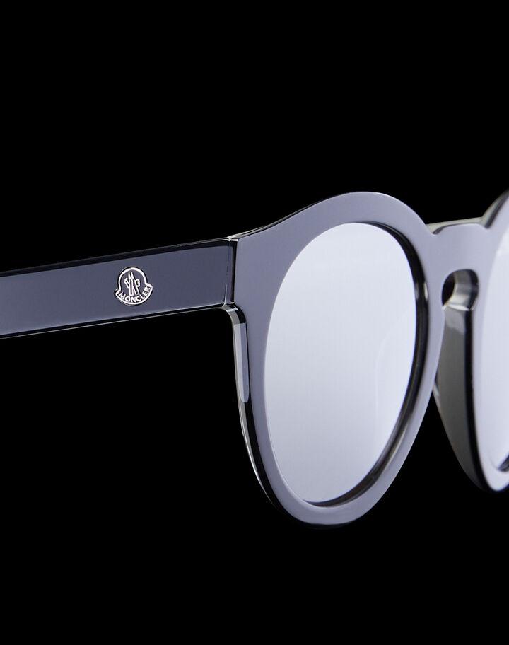 Moncler Rounded sunglasses Shiny Black / Dark Grey