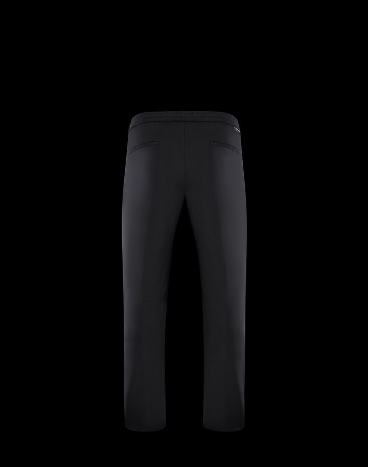 Moncler Triacetate fabric pants Black