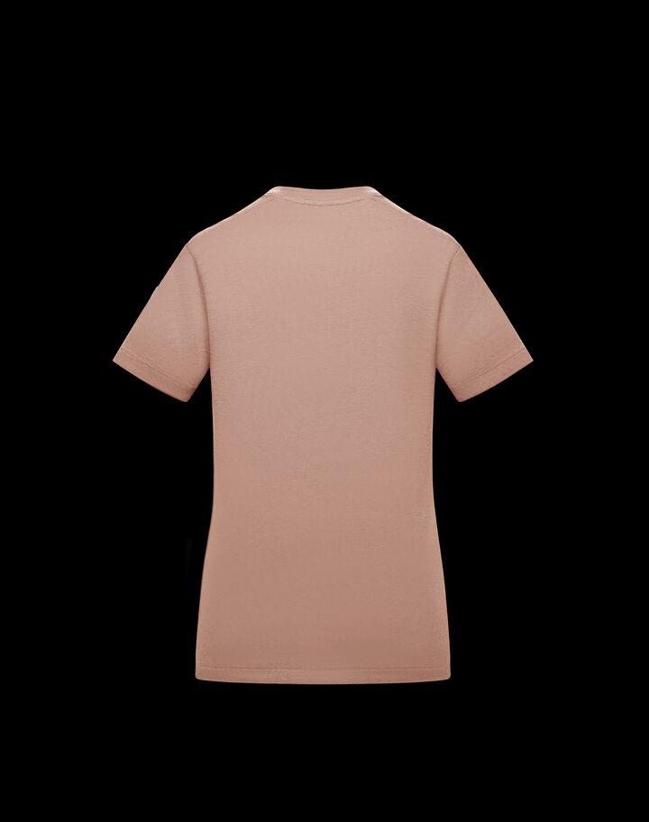Moncler T-shirt Moncler print Blush Pink