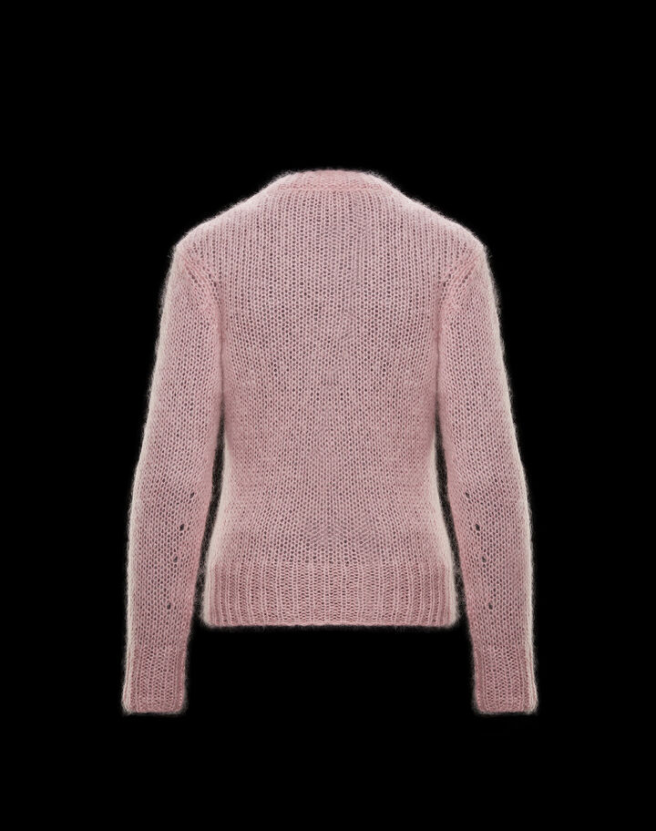 Moncler Wool and mohair sweater Antique Pink