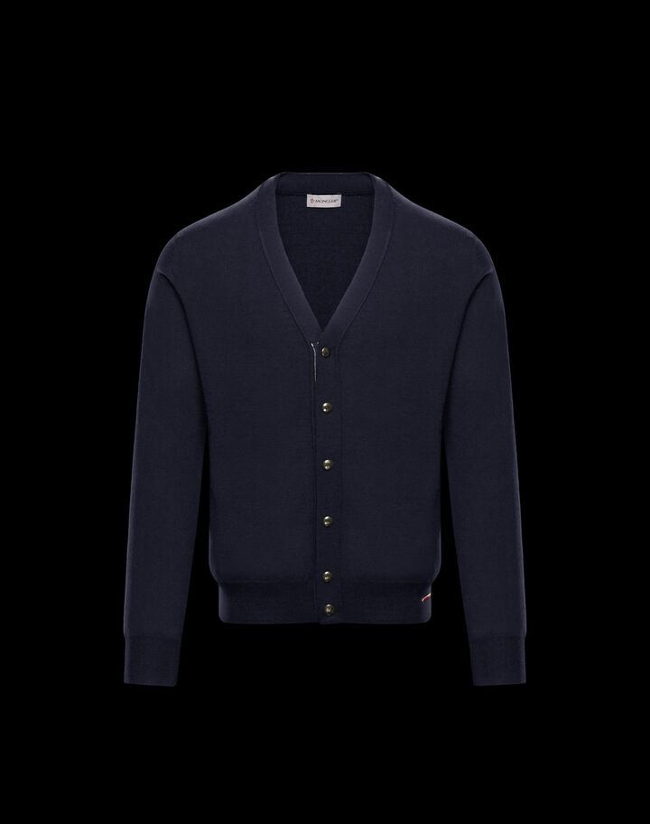 Moncler Button-down cardigan Night Blue