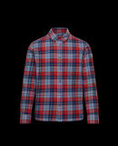 Moncler Checkered cotton shirt Chili Red