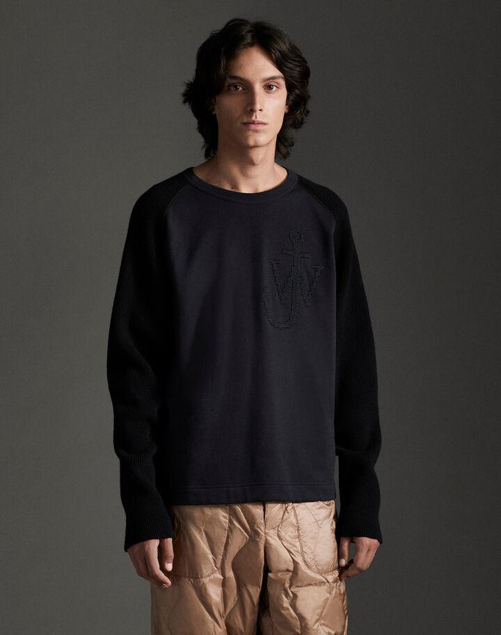 Moncler Knitted sweatshirt sleeves Dark Blue