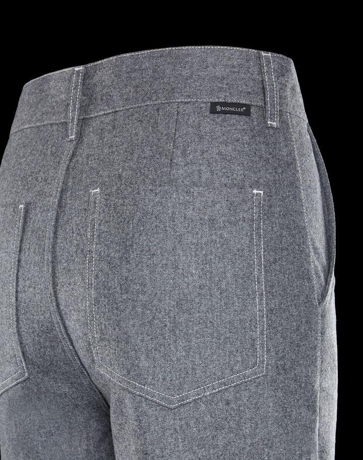 Moncler Flannel pants Medium Grey Melange