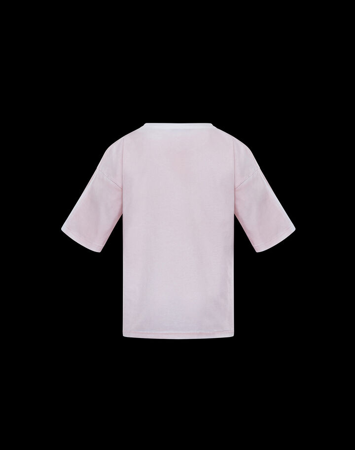 Moncler T-shirt with graphic Powder Pink