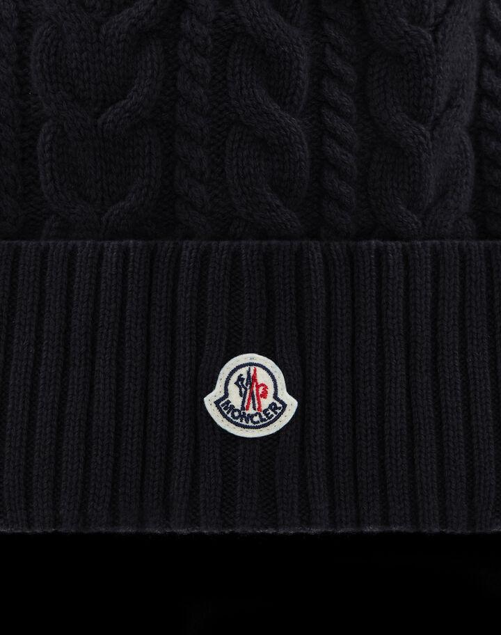Moncler Cable-knit beanie Black