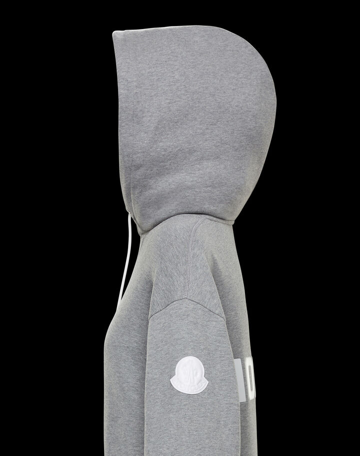Moncler Sweatshirt with logo Melange Light Gray