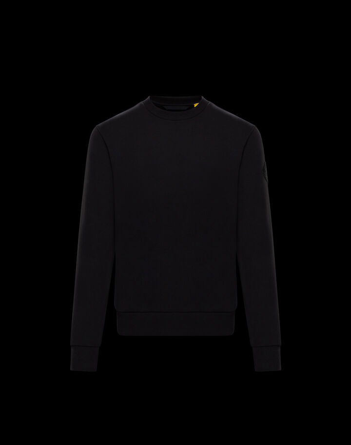 Moncler Sweater with sleeve logo Black