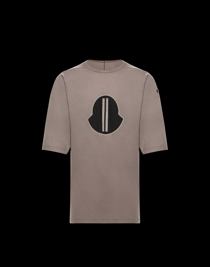 Moncler Jersey t-shirt with print Dust Brown