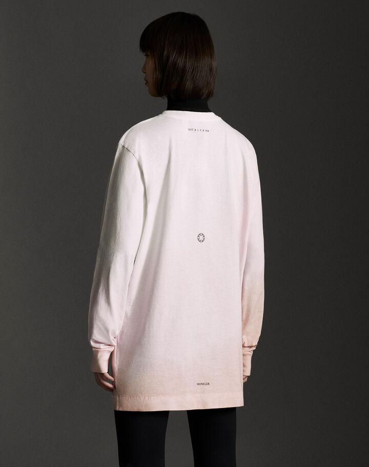 Moncler Garment dye t-shirt ml Tie Dye From White To Pink
