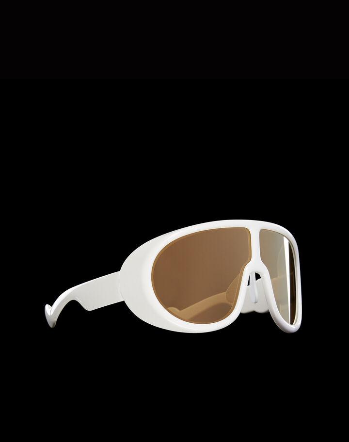 Moncler Sunglasses Shiny White + Shiny crystal