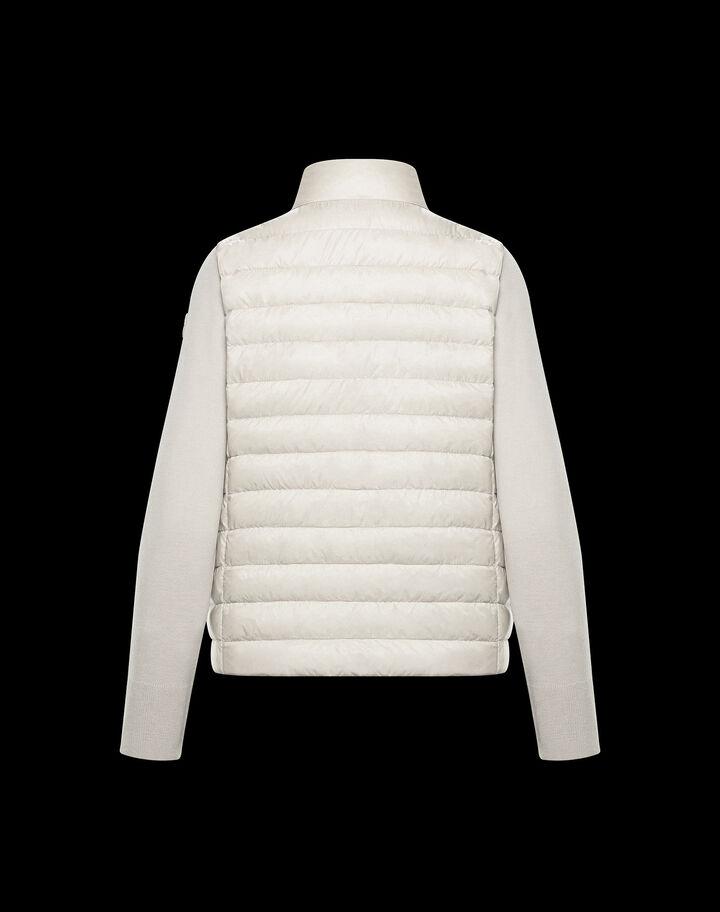 Moncler Wool cardigan Silk White