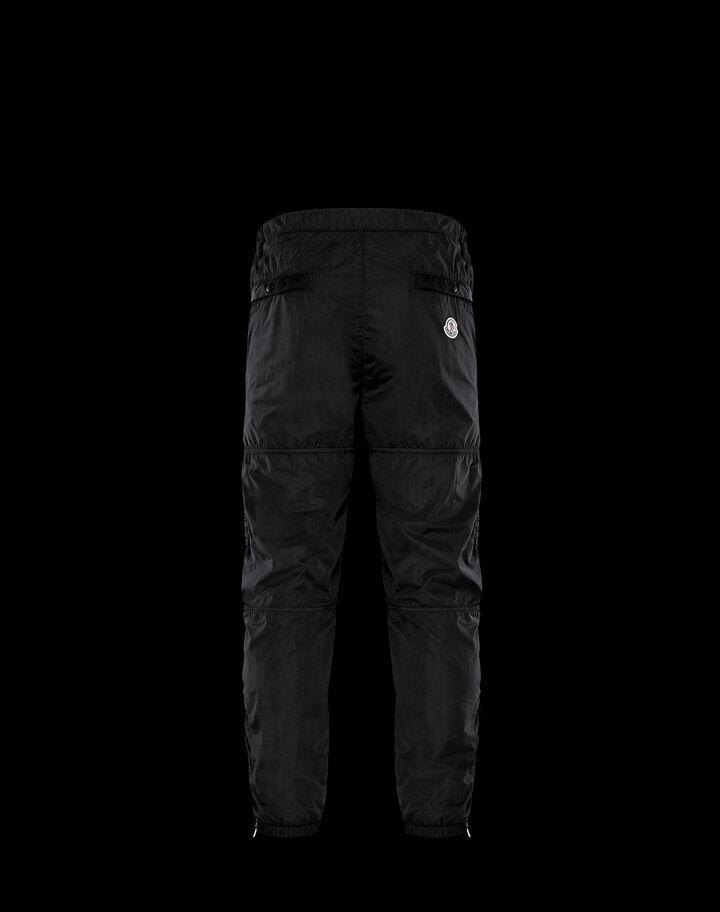 Moncler Pants in garment dyed nylon Black