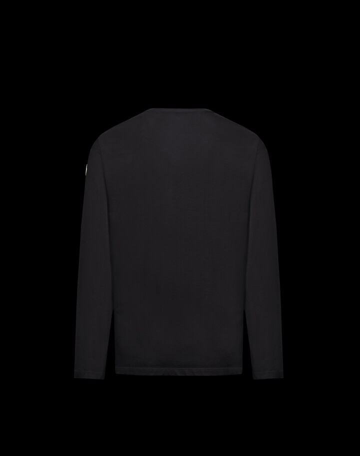 Moncler T-shirt with inlay Black