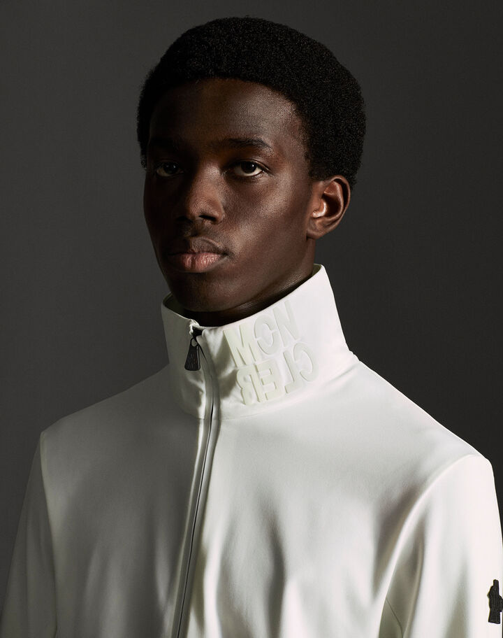 Moncler Zipped turtleneck Snow White