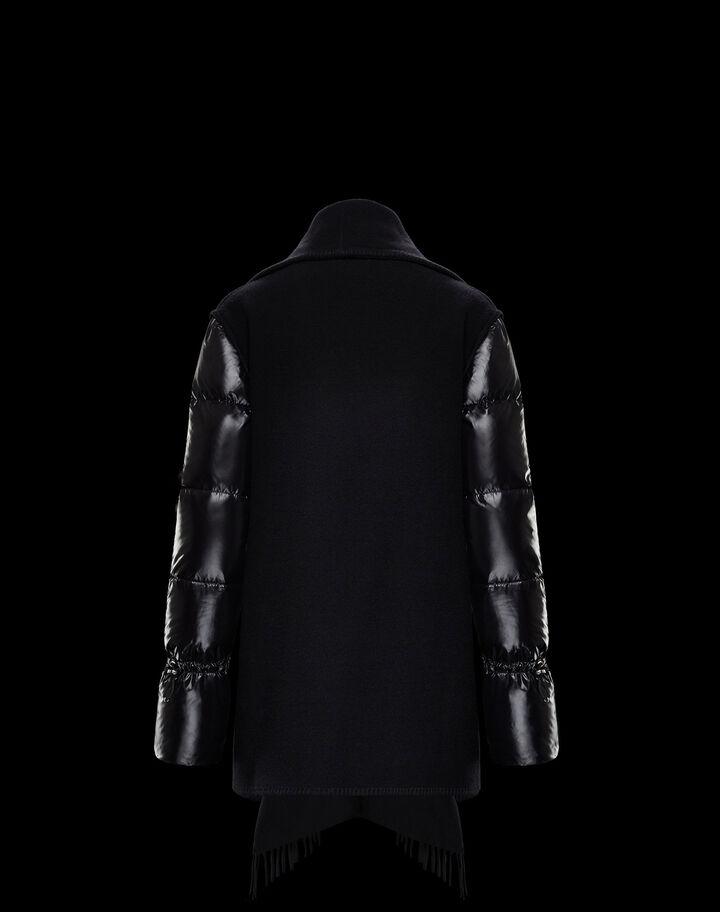 Moncler Cape nylon laqué sleeves Black
