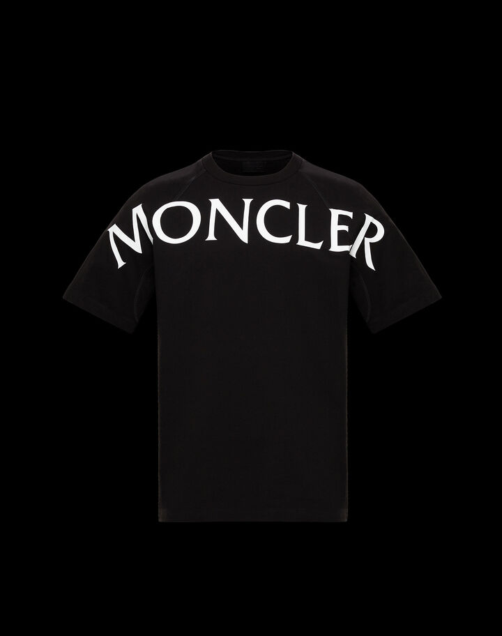 Moncler T-shirt with graphic Black