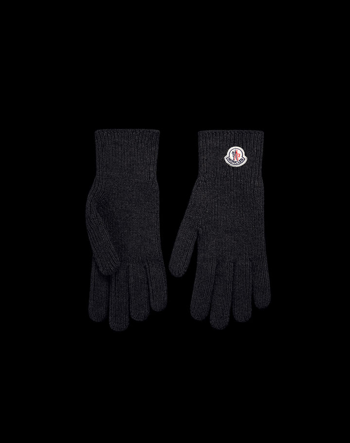 Moncler Gloves with logo Black