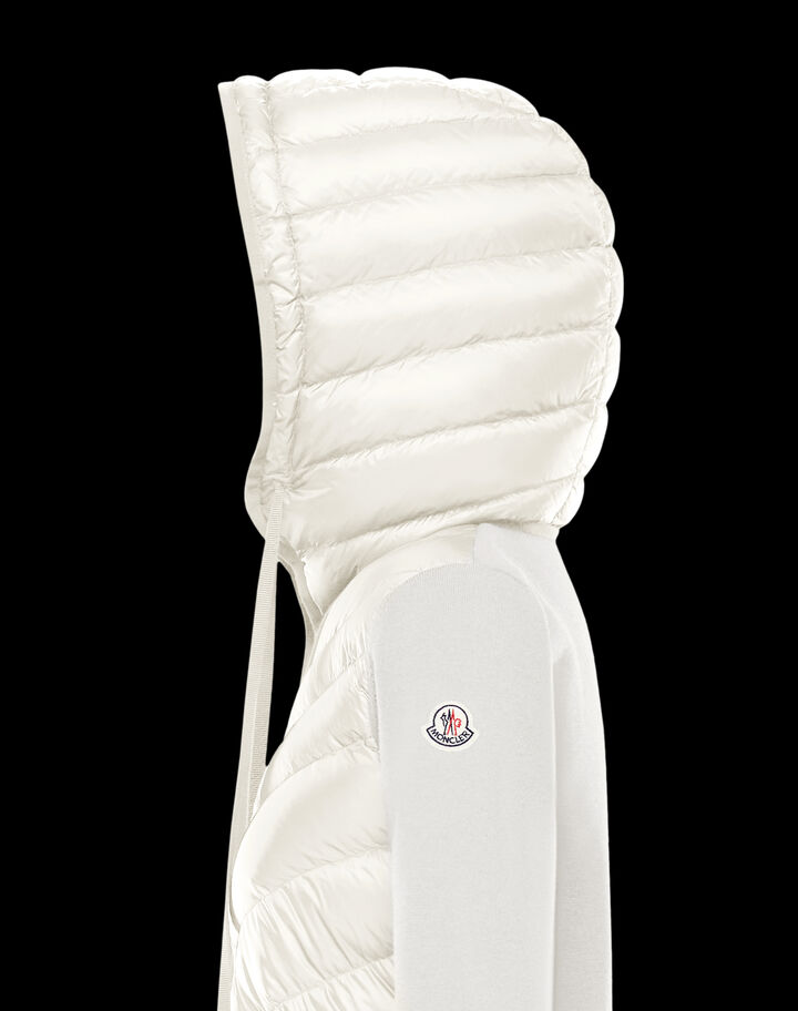Moncler Down sweater Silk White