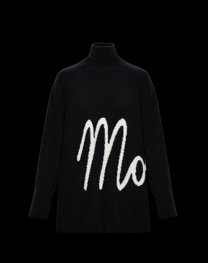 Moncler Turtleneck sweater with Moncler lettering Black