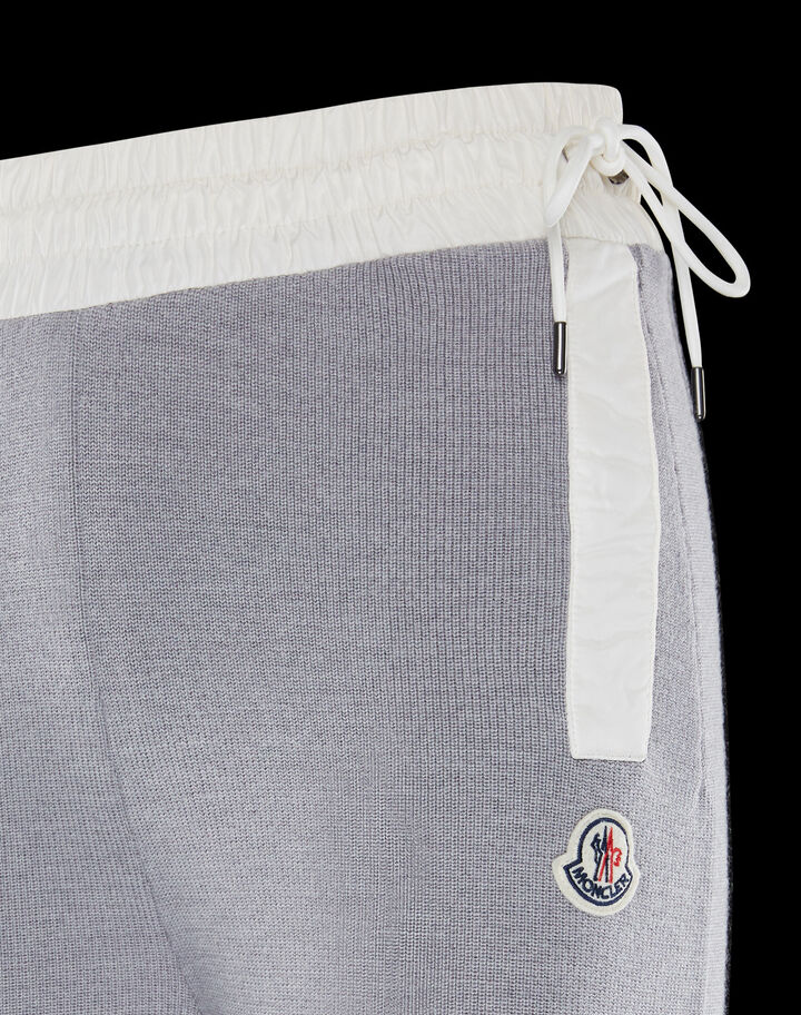 Moncler Large wool pants Melange Light Gray