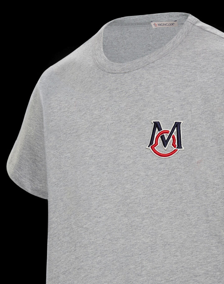 Moncler T-shirt with embroidery Melange Light Gray