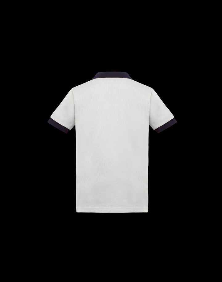 Moncler Polo for boys Ivory White